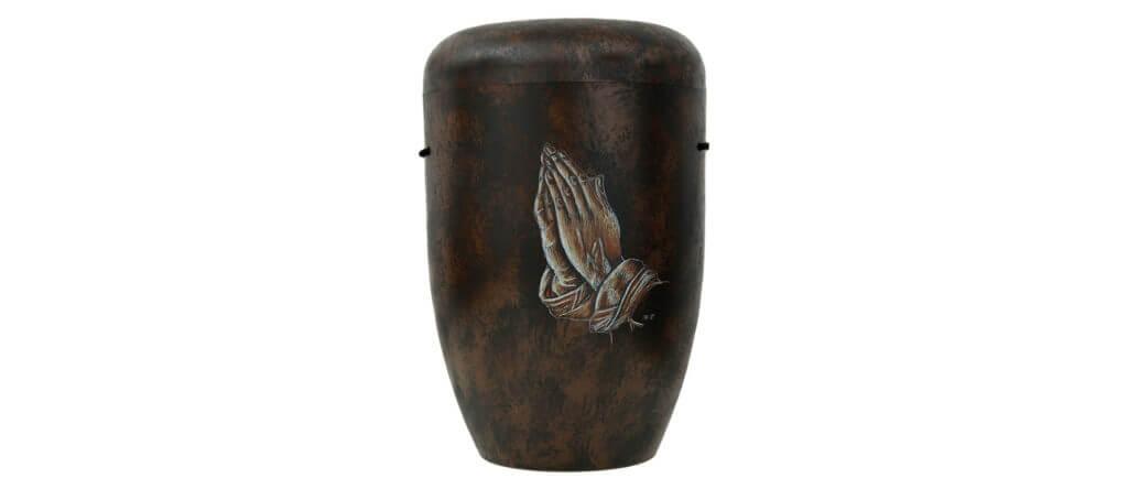 Urne Antik Motiv Betende Hände